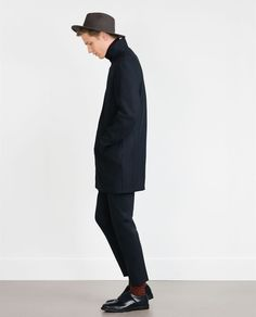 ZARA - MAN - NAVY COAT