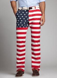 American Flag Print Straight leg Chinos Bonobos Men's Clothes