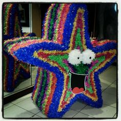 "4ft tall Starfish Pinata for an ""Under the Sea"" themed party"