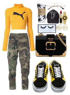 Ookay - Thief by annabidel on Polyvore featuring polyvore fashion style Puma RE/DONE HUF Vans Prada Versus me you Ray-Ban Huda Beauty L'Oréal Paris clothing