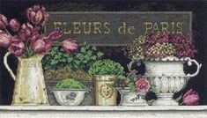 Вышивка «Fleurs de Paris» | Скачать схему бесплатно