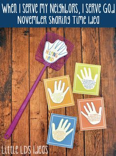 Teach the children about serving others with this fun 'SERVICE SLAP' Sharing Time Game from Little LDS Ideas.