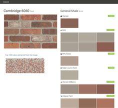 Charlestown landing earth tone brick general shale for Valspar color visualizer