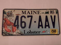 MAINE 467-AAV LOBSTER LICENSE PLATE