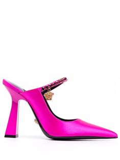 Versace Heels, Medusa Head, Pink Pumps, Calf Leather, Heeled Mules, Stiletto Heels, Dior, Cute Outfits, Slippers
