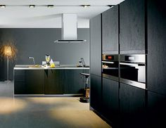 ... cabinet, backsplash and kitchen appliances » black kitchen design