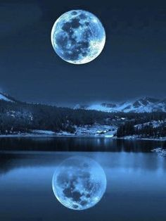 Blue moon in its glory.