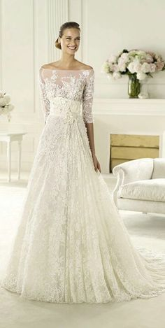 Wish I were getting married again. an Elie Saab wedding dress - yes please! Pronovias presents the Folie wedding dress. Elie by Elie Saab Pronovias Wedding Dress, Wedding Dress 2013, Perfect Wedding Dress, Wedding Attire, Wedding Gowns, Dream Wedding, Tulle Wedding, Ivory Wedding, Wedding Bride