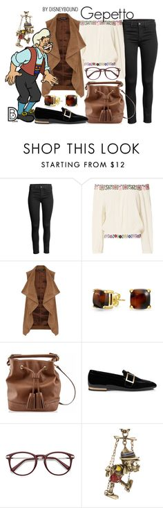 """""""Gepetto"""" by leslieakay ❤ liked on Polyvore featuring Melissa Odabash, Dorothy Perkins, Bling Jewelry, Roger Vivier, Disney Couture, disney, disneybound and disneycharacter"""