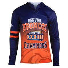 Men's Denver Broncos NFL Klew Orange Super Bowl XXXII Champions ...