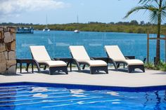 Poolside paradise at Sails Resort Port Macquarie. Port Macquarie, Holiday Destinations, Outdoor Furniture, Outdoor Decor, Favorite Holiday, Sun Lounger, Sailing, Paradise, Places