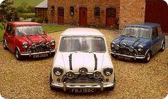 Austin Mini Cooper, The Italian Job paint on 3 separate canvases Mini Cooper Classic, Mini Cooper S, Classic Mini, Classic Cars, Austin Mini, Austin Cars, My Dream Car, Dream Cars, Famous Movie Cars