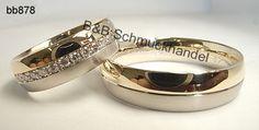Exklusive Trauringe mit umlaufenden Diamantkranz. Exklusive Materialien und ein harmonisches Design machen diese Eheringe zu einem ganz besonderen Hingucker Wedding Ring Designs, Wedding Band Sets, B & B, Engagement Rings, Jewels, Luxury, My Style, Weddings, Engagements