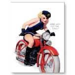 Make Way For The Siren Pin Up Girl ~ Retro Art Post Cards