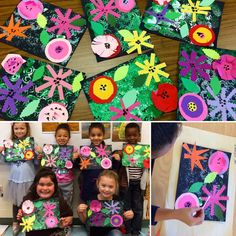 Kindergarten Warhol inspired flowers