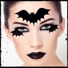 Check out our Halloween temporary tattoos selection for the very best in unique or custom, handmade pieces from our shops. Spider Halloween Costume, Halloween Costumes To Make, Bat Costume, Halloween Eye Makeup, Boy Halloween, Girl Face Painting, Face Painting Designs, Cat Eye Makeup, Clown Makeup