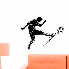 Soccer Player Wall Decal Vinyl Sticker Football Game Sport Wall Decor Home Interior Design Art Mural Boy Room Kids Nursery Bedroom Dorm Z747 WisdomDecalHouse http://www.amazon.com/dp/B00VCYVF70/ref=cm_sw_r_pi_dp_XqLivb1M9E2X1