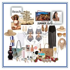 """""""Beach...Summer Date...CONTEST"""" by onesweetthing on Polyvore featuring Ellison, Bobbi Brown Cosmetics, Ted Baker, Mara Hoffman, ViX, Havaianas, The Beach People, Kate Spade, Ray-Ban and Tory Burch"""