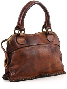 Campomaggi Lavata Satchel Leather cognac 28 cm - C1295VL-1702 | Designer Brands :: https://wardow.com