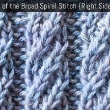 Stitch Description This video knitting tutorial will help you learn how to knit the broad spiral rib stitch. This stitch creates a fancy rib pattern. The broad spiral rib stitch would be great for hats, scarves, and cowls! Rib Stitch Knitting, Knitting Stiches, Knitting Videos, Lace Knitting, Knitting Patterns Free, Knit Patterns, Knitting Projects, Crochet Stitches, Stitch Patterns