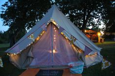 Romantic getaway in a #belltent Nova Scotia with EastCoastGlamping.ca #glamping #romance at The Mermaid & The Cow Campground