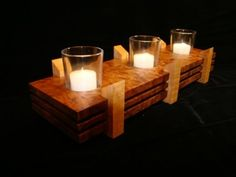 Candle Holders from scrap - by sandhill @ LumberJocks.com ~ woodworking community