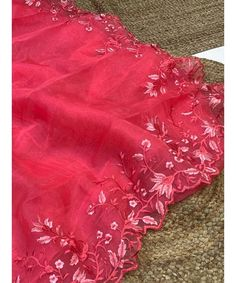Unique Style Organza Silk Saree with embroidery work & Sattin Blouse -Style Array Blouse Styles, Silk Sarees, Range, Embroidery, Unique, Cookers, Needlepoint, Crewel Embroidery, Embroidery Stitches