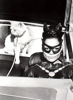 This cat had excellent representation, Lew Wassercat...  Eartha Kitt as Catwoman,10th December 1967.