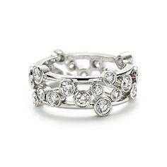 Tiffany - Celebration® -web-may. 2013,USD 9800, A joyous design of Tiffany diamonds. Ring of round brilliant diamonds in platinum.