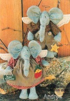 Mimin baby: elefantinhos angelicais - decorativos