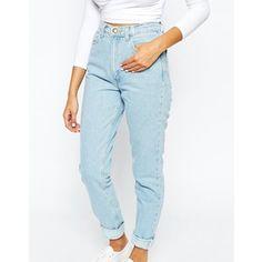 American Apparel High Rise Mom Jeans