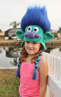 Get your hair in the air with this amazing Happy Branch Crochet Hat Pattern inspired by the Dreamworks movie Trolls! This Branch Trolls crochet hat is made with soft, durable acrylic yarn and features a 3-D amigurumi-style design that looks stunning from every angle. Your loved one