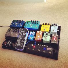 Huge (and hugely expensive) pedal board.