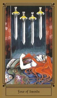January 20 Tarot Card: Four of Swords (Fantastical deck) You must replenish your strength now. You've been through a lot, and the only way you can sustain is if you take this moment to stay still, breathe deeply, and rest