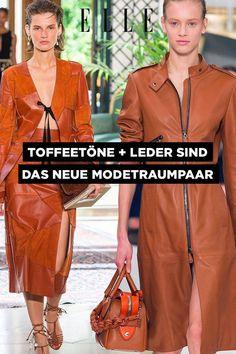 Leder + Toffee-Töne sind das Mode-Traumpaar der neuen SaisonLeder zeigt sich im Frühling von seiner süßen Seite – zumindest was die Farbwahl betrifft. Bikerjacken, Hosen und Kleider werden jetzt nämlich in Toffee-Tönen getaucht. #leder #leather #lederrock #trending
