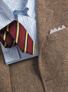 Dusty Blue and Beige Herringbone Harris Tweed Sport Coat Mens Tweed Suit, Tweed Sport Coat, Tweed Run, Tweed Suits, Vêtement Harris Tweed, Ivy League Style, Ivy Style, Tennis Clothes, Well Dressed Men