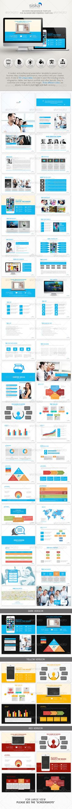 Siska Powerpoint Presentation Template (Powerpoint Templates) #Powerpoint #Powerpoint_Template #Presentation