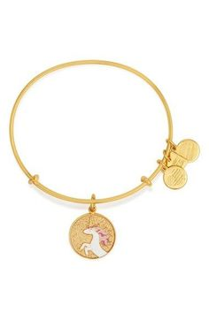 Alex and Ani 'Charity by Design - Unicorn' Expandable Wire Bangle