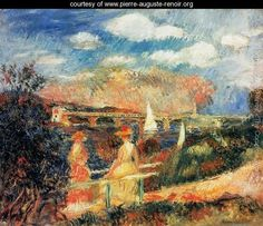 The Banks Of The Seine At Argenteuil - Pierre Auguste Renoir - www.pierre-auguste-renoir.org