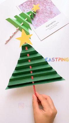 Christmas Arts And Crafts, Preschool Christmas, Christmas Activities, Kids Christmas, Holiday Crafts, Christmas Cards, Diy Paper Christmas Tree, Christmas Lights, Paper Crafts For Kids
