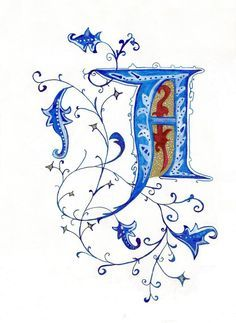 A for alphabet Calligraphy Art, Calligraphy Alphabet, Medieval Art, Drawings, Illuminated Letters, Alphabet Art, Letter Art, Art, Hand Lettering