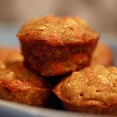 Toddler Muffins - this little muffin has bananas, carrots and squash in it! My little guys are getting more picky by the day.