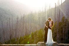 Glacier Park Real Wedding vista - gorgeous photo!