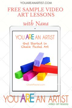 """Why chalk pastels? Wondered how in the world to get started in art? Our free Get Started in Chalk Pastel Art video art lessons will show you how!  """"We just LOVE your videos and books! We've never had much success with art or drawing in our house, but your videos have changed that for us!"""" ~Karla Canon #YouAREanArtist #homeschoolart #artlessons Chalk Pastel Art, Chalk Pastels, Art Camp, Summer Art, Art Activities, Art Tutorials, Just Love, Get Started, Art Lessons"""