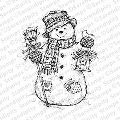 Snowman with Birdhouse