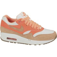 Nike Air Max 1 Vintage Women's Shoe ($60) ❤ liked on Polyvore featuring shoes, sneakers, nike, traction shoes, vintage sneakers, real leather shoes, grip shoes and grip trainer