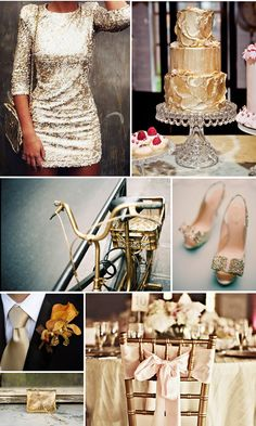 Gold & Glitter Wedding Inspiration