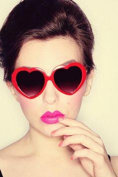 A fun V-day look. #statementlip #hearts