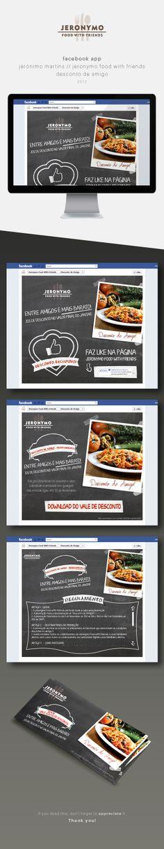 FacebookApp/Jerónimo Martins/Jeronymo Food With Friends on Behance #webdesign #facebookapp #food