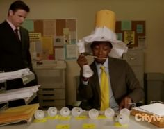 new girl winston funny work game